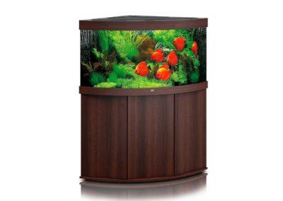 Juwel Aquarium Trigon 350 dunkles Holz